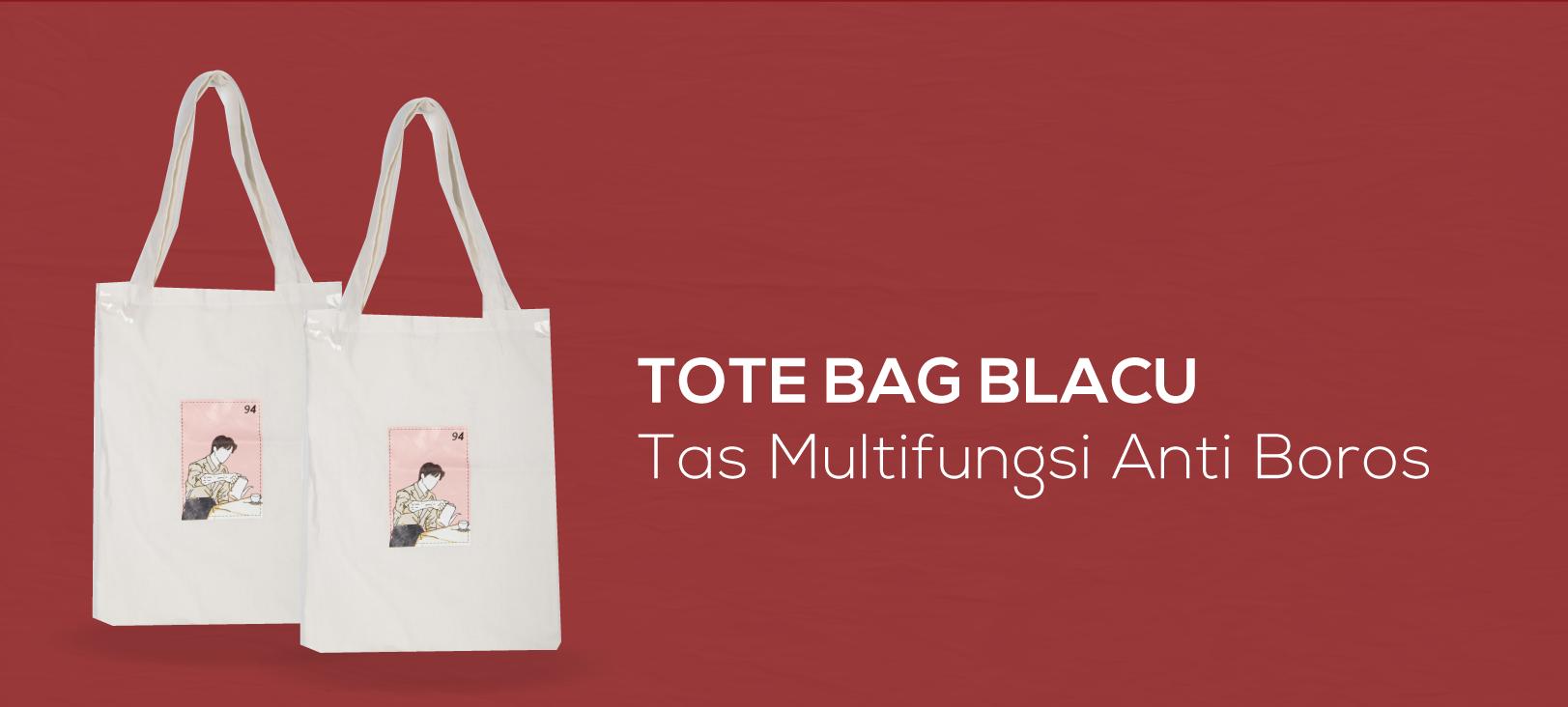 Tote Bag Blacu, Tas Multifungsi Anti Boros